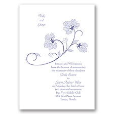 Floral Detail - Invitation