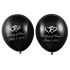 Black Balloons - Personalized