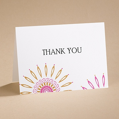 Sunny Days - Thank You Card with Verse and Envelope