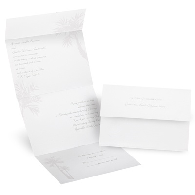 White Palm Tree - Invitation