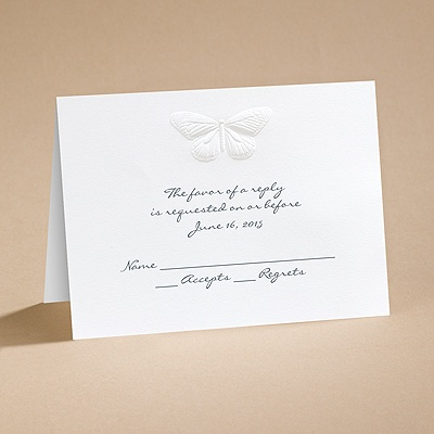 Nature's Elegance - Respond Card and Envelope