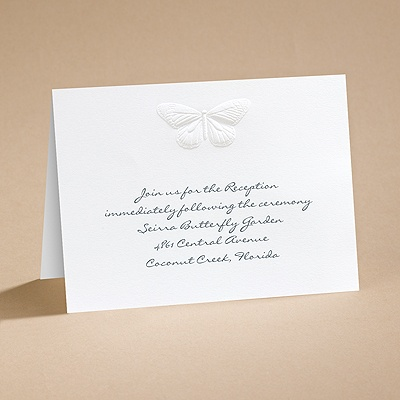 Nature's Elegance - Reception Card