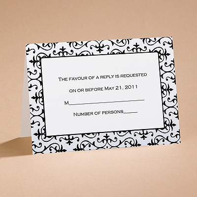 Dramatically Fashionable - Respond Card and Envelope