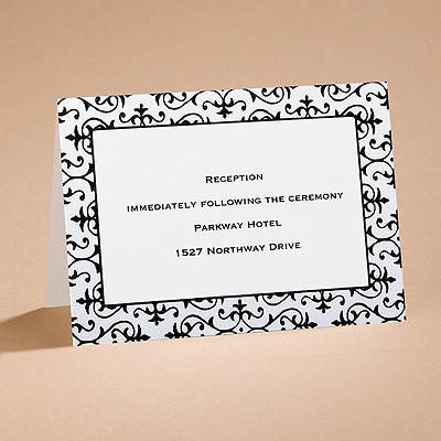 Dramatically Fashionable - Reception Card