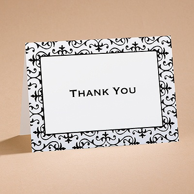 Dramatically Fashionable - Thank You Card with Verse and Envelope