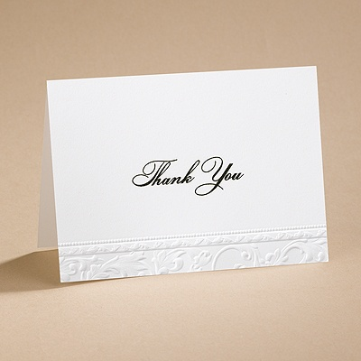 Vintage - Thank You Card and Envelope
