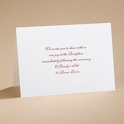 Bright White Reception Card