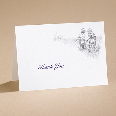 Through the Years - Thank You Card with Verse and Envelope