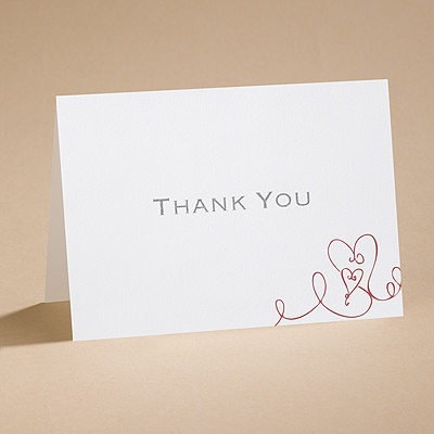 Heart To Heart - Thank You Card and Envelope