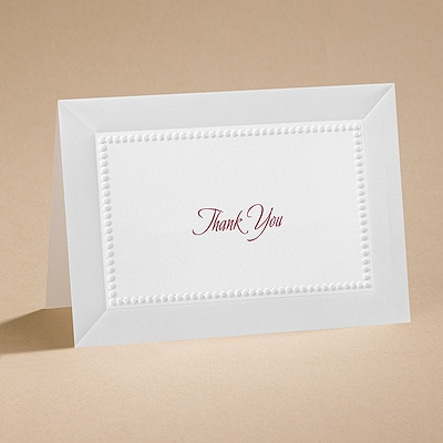All Buttoned Up - White Thank You Card and Envelope