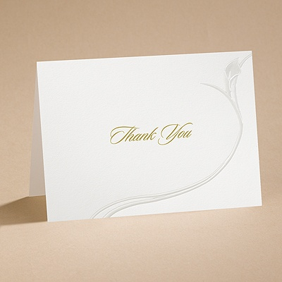 Gentle Curves - Thank You Card with Verse and Envelope