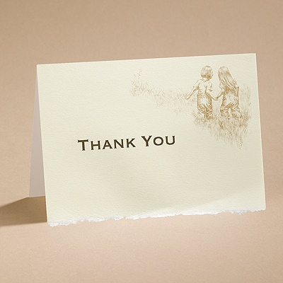 Walk Of Life -Thank You Card And Envelope