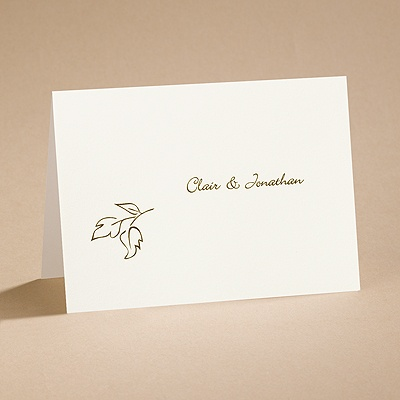 Copper Elegance - Note Card and Envelope