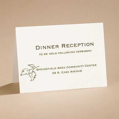 Copper Elegance - Reception Card