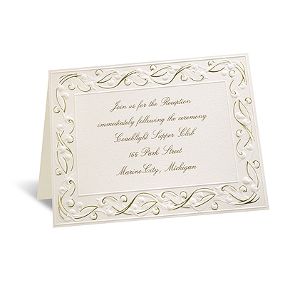 Gold Rush - Reception Card