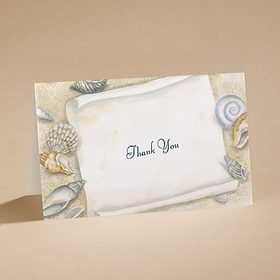 Gift From The Sea - Thank You Card with Verse and Envelope