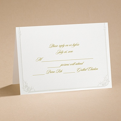 Western Wedding - Respond Card and Envelope