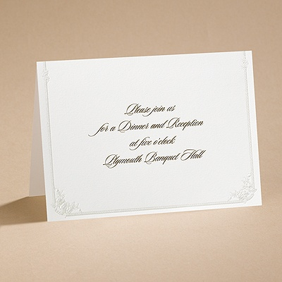 Western Wedding - Reception Card