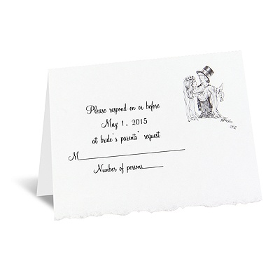 Playful Love - Respond Card and Envelope