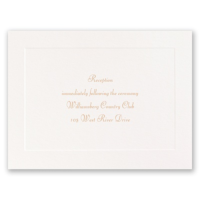 Fresh Start - Reception Card