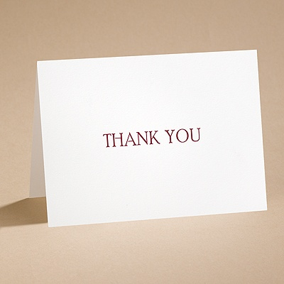 Simplicity -Thank You Card and Envelope