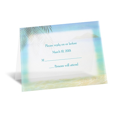 Paradise Found - Respond Card and Envelope
