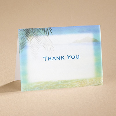 Paradise Found - Thank You  Card and Envelope