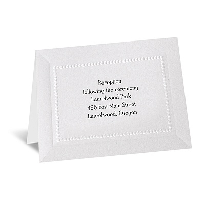 Splendid Shimmer - Reception Card