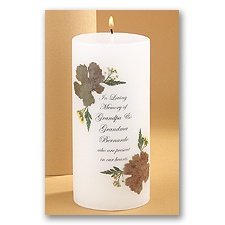 Autumn Memorial Candle