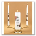 Autumn Unity Candle and Tapers Set