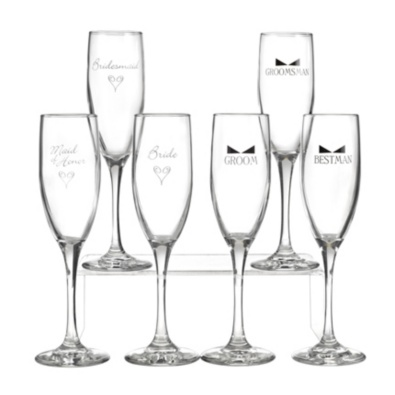 Bridal Party Flutes