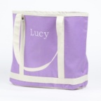 Personalized Tote Bag - Deep Lilac