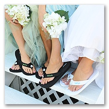 Embroidered Wedding Flip Flops