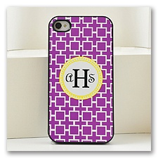 Purple Geometric Cell Phone Case