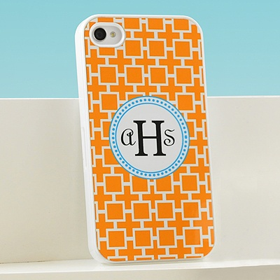 Orange Geometric Cell Phone Case