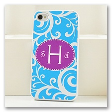 Blue Damask Cell Phone Case