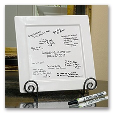 Signature Platter and Easel Set
