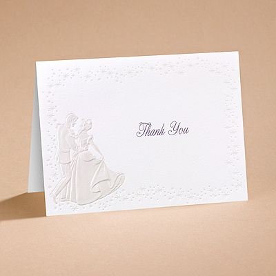 Cinderella Dreams Come True - Thank You Card and Envelope