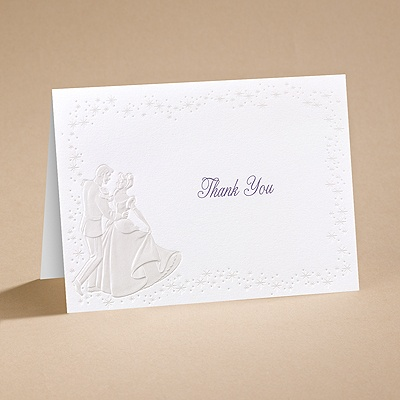 Cinderella Dreams Come True - Thank You Card with Verse and Envelope