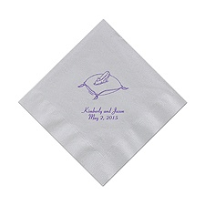 Cinderella - Silver Dinner Napkins in Foil