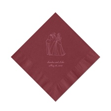 Cinderella - Wine Beverage Napkins in Foil