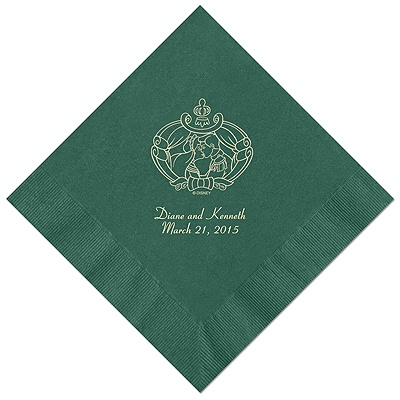Cinderella - Hunter Beverage Napkins in Foil