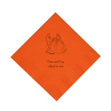 Cinderella - Orange Beverage Napkins in Foil