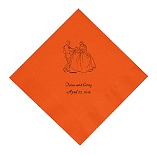 Cinderella - Orange Dinner Napkins in Foil