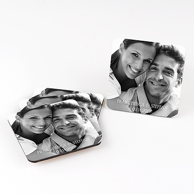 Picture Perfect Personalized Square Coaster Set