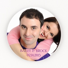 Picture Perfect Personalized Round Coaster Set