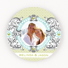 Hip Crest - Fresh - Personalized Round Coaster Set