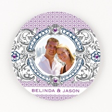 Hip Crest - Berry - Personalized Round Coaster Set