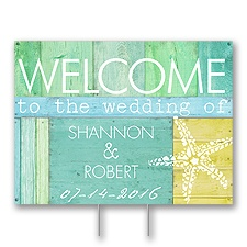 Beach Bliss Yard Sign - Medium