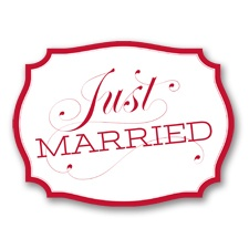 Just Married Car Sign - Barn Red